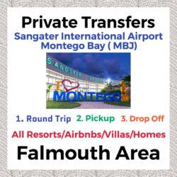 Private Transfer from Sangster International Airport Montego Bay to All Resorts, Villas, AirBnbs & Homes  in Falmouth Area
