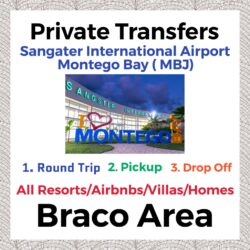 Private Transfer From Sangster International Airport Montego Bay to All Resorts, Villas, AirBnbs & Homes in Braco Area