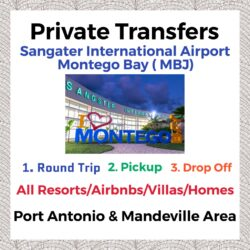 Private Transfer From Sangster International Airport Montego Bay to All Resorts, Villas, AirBnbs & Homes in Port Antonio & Mandeville Area